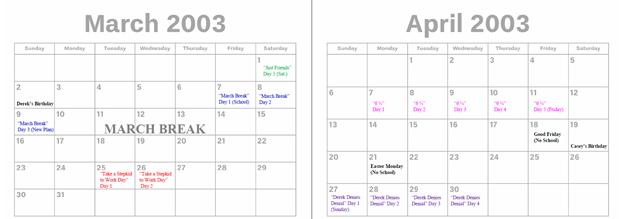 2003 - March & April