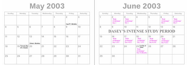 2003 - May & June