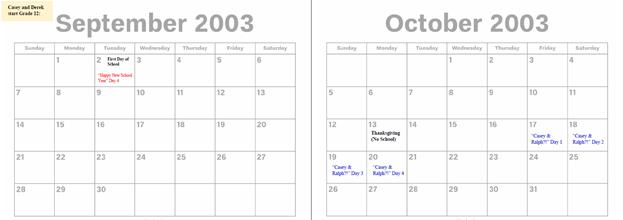 2003 - Sept. & Oct.