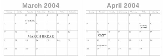 2004 - March & April