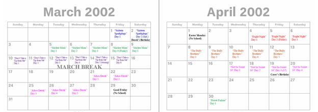 2002 - March & April