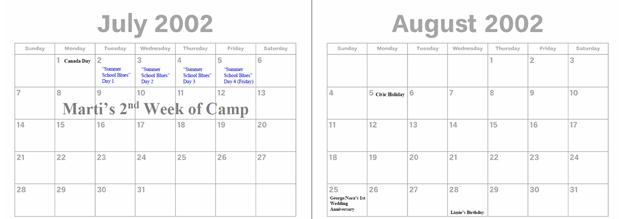 2002 - July & Aug.